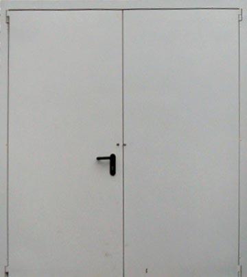 Двери противопожарные двупольные