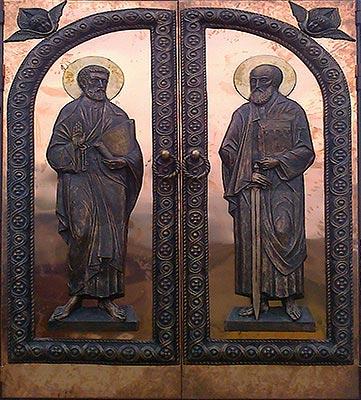 изготовление двухпольных дверей